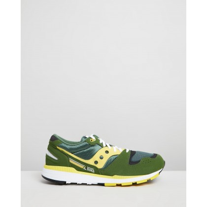 Azura Sneakers Green & Yellow by Saucony