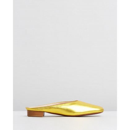 Baba Slip-Ons Gold by Alexachung