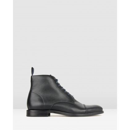 Backfire Lace Up Dress Boots Black by Betts