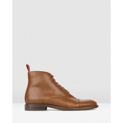 Backfire Lace Up Dress Boots Whiskey by Betts