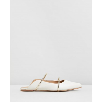 Bale Mules Off-White & Gold Straps by Spurr