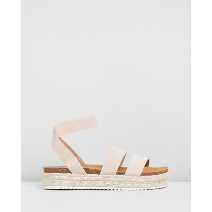 Band Flatforms Blush Elastic by Dazie