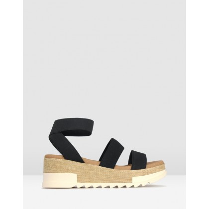 Bandit 2 Wedge Sandals Black by Betts