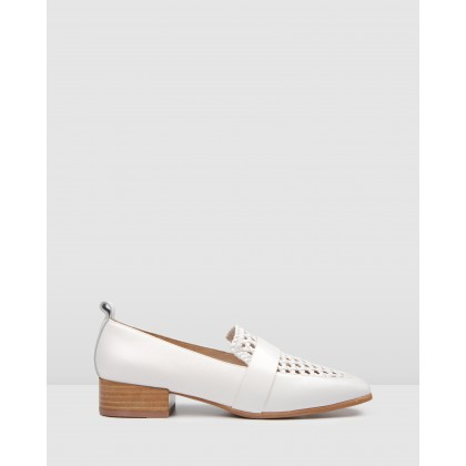 Banner Loafers WhiteLeather by Jo Mercer