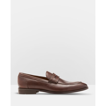 Barry Leather Loafers Brown by Oxford