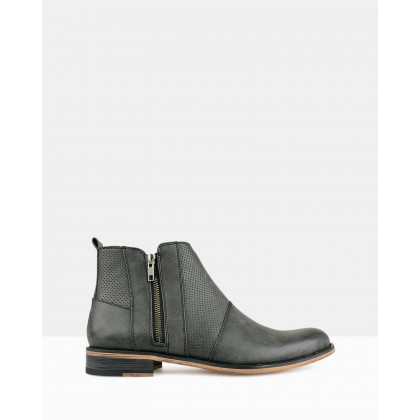 Base Zip Up Ankle Boot Black by Betts