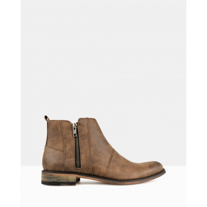 Base Zip-Up Ankle Boots Brown by Betts