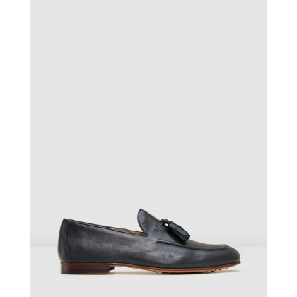 Basso Loafers Navy by Aquila