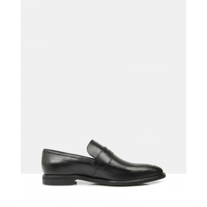 Bautista Penny Loafers Oak Mak Black by Brando
