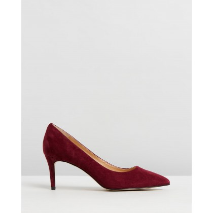 Bea Leather Pumps Burgundy Suede by Atmos&Here
