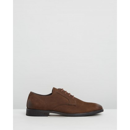 Beamon Leather Derby Shoes Chocolate by Double Oak Mills