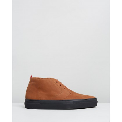 Beat Boots Caramel Nubuck by Oliver Spencer