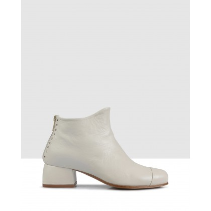 Beau5 Ankle Boots Avorio by Beau Coops