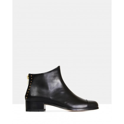 Beau5 Leather Ankle Boots Black by Beau Coops