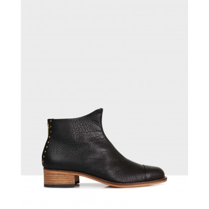Beau5 Montone Ankle Boots Black by Beau Coops