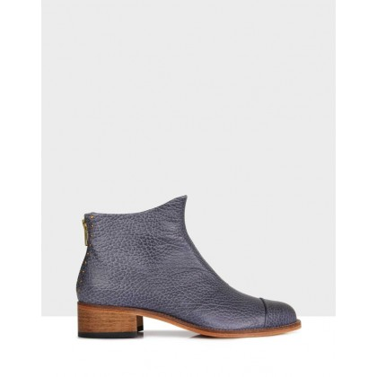 Beau5 Montone Leather Boots Grey by Beau Coops