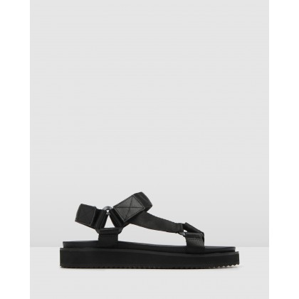 Becca Flat Sandal Black by Jo Mercer