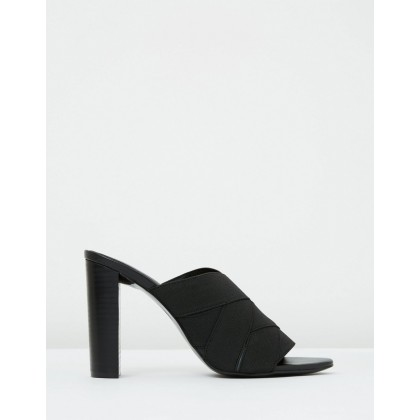 Bella Mule Black Elastic by Mode Collective