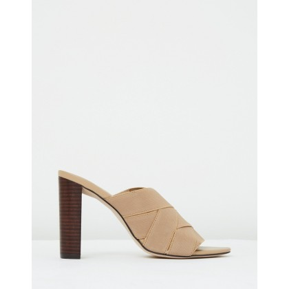 Bella Mule Tan Elastic by Mode Collective