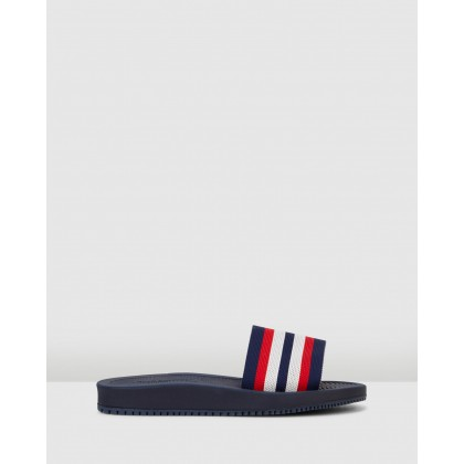 Bells Navy Multi by Hush Puppies