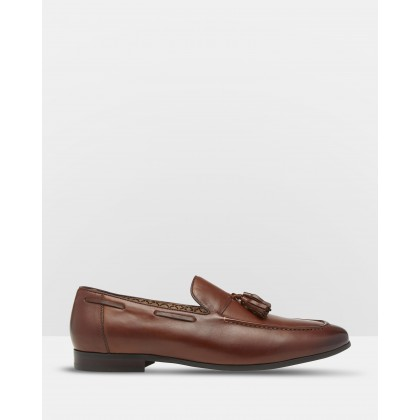 Benedict Leather Loafers Brown by Oxford