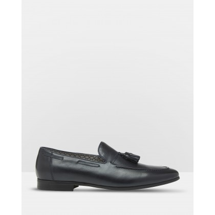 Benedict Leather Loafers Blue by Oxford