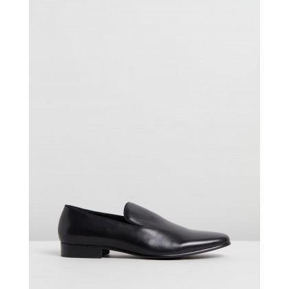 Benjamin Leather Loafers Black by Double Oak Mills