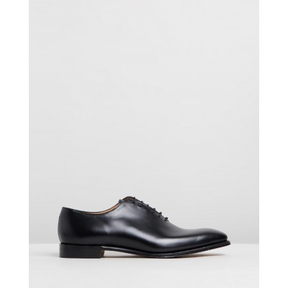 Berkeley Whole Cut Oxford Shoes Black Calf Leather by Cheaney