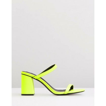Berlin Heels Neon Yellow by Dazie