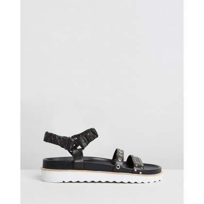 Bernice Sandals Black by Caverley