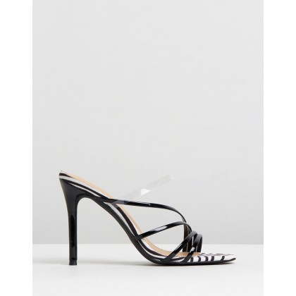 Bess Heels Black Patent & Zebra by Spurr