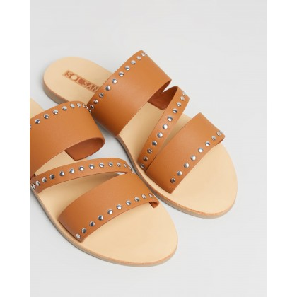 Betty Slides Tan by Sol Sana
