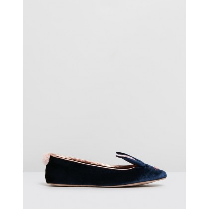Bhunni Navy Velvet by Ted Baker