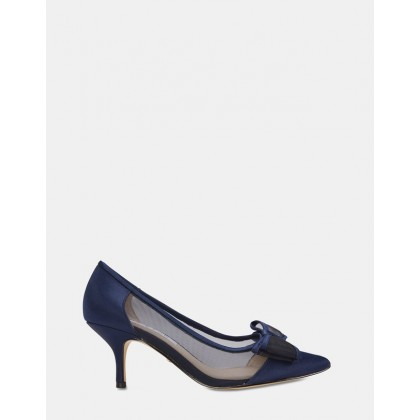 Bianca NAVY SATIN by Nina