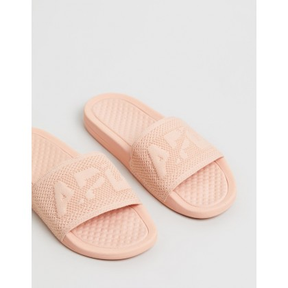 Big Logo TechLoom Slides - Women's Blush by Apl