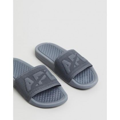 Big Logo TechLoom Slides - Women's Cosmic Grey by Apl
