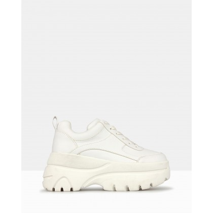 Billy Chunky Platform Sneakers White by Betts
