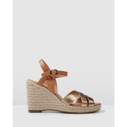 Bleeker Espadrille Wedges Tan Multi by Jo Mercer