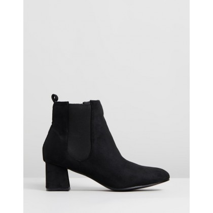 Block Elastic Boots Black by Lipsy