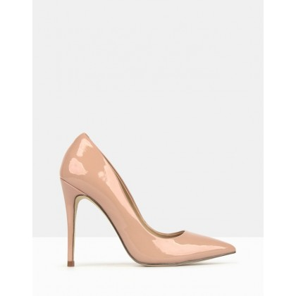 Blossom Patent Stiletto Heels Blush by Betts