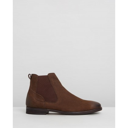 Boardman Leather Chelsea Boots Chocolate by Double Oak Mills