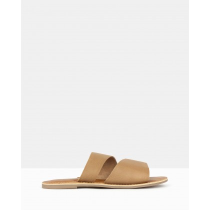 Bondi Slip On Sandals Tan by Betts