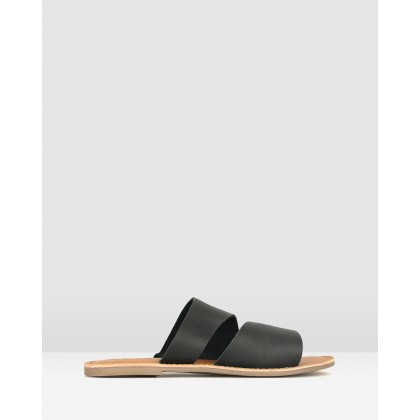 Bondi Slip On Sandals Black by Betts