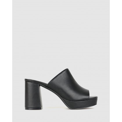 Bossy Platform Mules Black by Betts