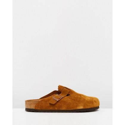 Boston Regular - Men's Soft Footbed Vl Mink by Birkenstock