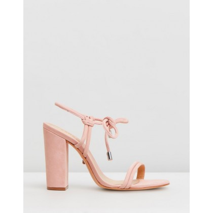 Bow Tie Heel Sandals Pink by Schutz