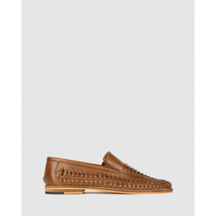 Bradley Slip On Huaraches Tan by Zu