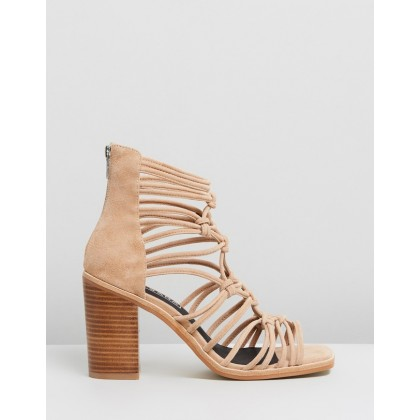 Brandy Heels Light Tan Suede by Sol Sana