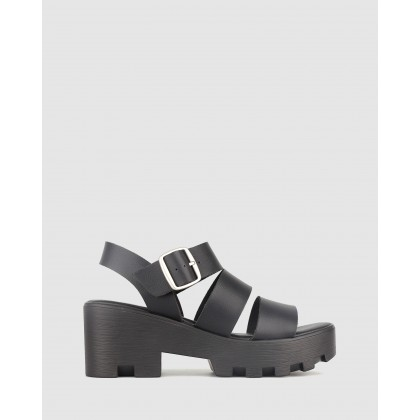 Bratty Platform Sandals Black by Betts
