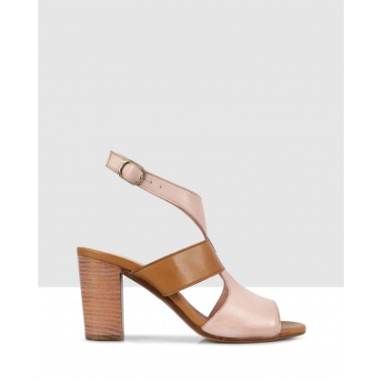 Brenda Heeled Sandals Powder-8411/tan-8402 by S By Sempre Di